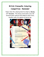 British Ironworks Colouring Competition- reminder