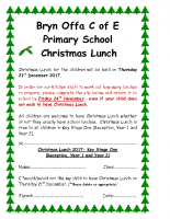 's Christmas Lunch 21st December 2017 (Key Stage 1)