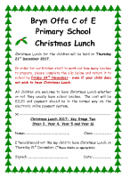 's Christmas Lunch 21st December 2017 (Key Stage 2