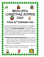 Details of Bryn Offa Christmas Jumper Day on Friday 22nd December